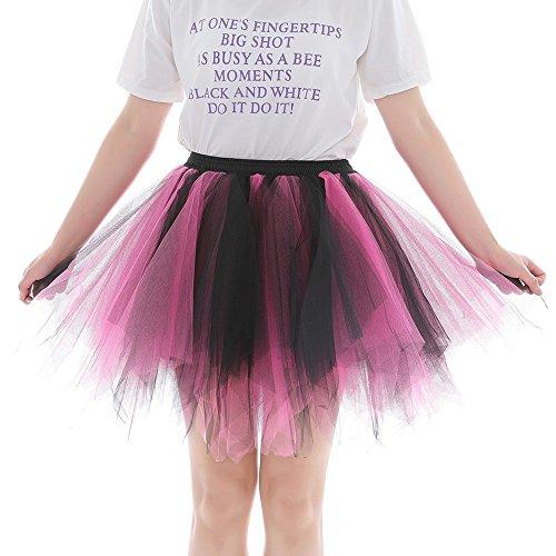 Sllowwa Tütü Rock Damen Tüllrock Ballett Röcke Tutu Rock Ballettrock Tütü Tüllrock für Party Mädchen Kostüm Ballettrock Classic Tanzbekleidung (Billig Klassische Ballett Kostüme)