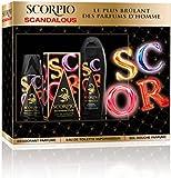 Scorpio Coffret 3 Produits Scandalous Eau de Toilette Flacon de 75 ml + Gel Douche 250 ml + Déodorant Atomiseur 150 ml