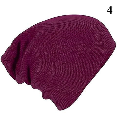 Uomini Donne Fashion Knit larghi Beanie Oversize Cappello invernale Sci Slouchy Chic nuovo tappo vino rosso