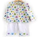 #8: Frangipani Unisex Cotton Pyjama Set