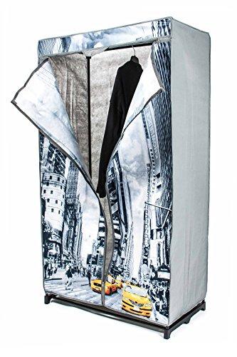 Faltkleiderschrank, 1 Kleiderstange, werkzeuglose Montage, Größe 156 x 87 x 45 cm, Design BigBen,...