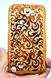 RoseFlower� Samsung Galaxy Note 2 Wooden Case - Cherry Flower - Natural Handmade Bamboo / Wood Cover with Free Screen Protector for your Smartphone