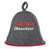Saunahut'Sauna Obensitzer' Saunakappe Saunamütze Sauna Filz Kappe Lustige Hüte