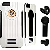 Icon iPhone 6s Case [3-in-1 Sports Shell] Multifunctional Accessories (iPhone carrier, iPhone car holder mount air vent, iPhone bike holder) Protective Case Cover for iPhone 6 / iPhone 6s (4.7 inch) Specially Designed All Around Protection for New iPhone 6s (White)
