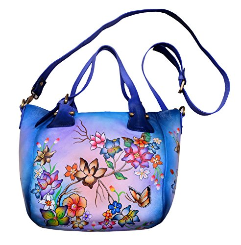 Niarvi Blue Bliss - Echt Leder- Handgemalte Handbag (Anuschka Echtes Leder)
