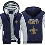 CCL NFL Football Kleidung New Orleans Saints Trainingsanzug Eindickung Plus Velvet Zipper Kapu