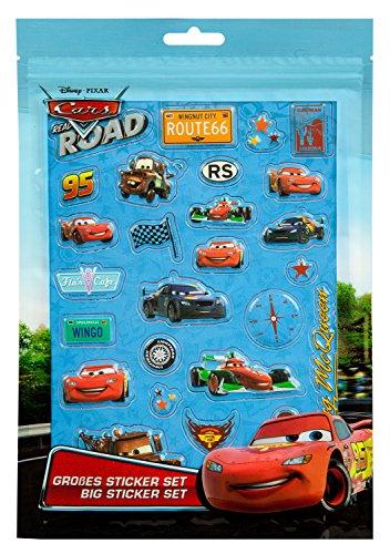 Undercover CAGR7293 Kindergartentasche, Disney Pixar Cars, ca. 21 x 22 x 8 cm großes Sticker Set