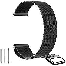 BarRan® Nokia Steel HR 36mm Correa, Milanese 18mm Milanese Loop venda de reloj de la correa de la cerradura magnética para Nokia Steel HR 36mm Smartwatch