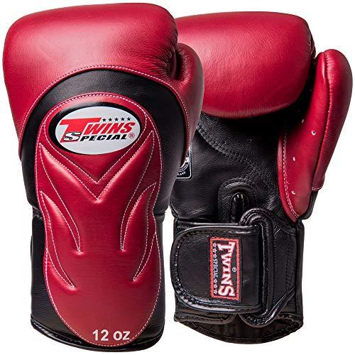 Twins Boxhandschuhe, Premium, BGVL-6, weinrot-schwarz Größe 12 Oz
