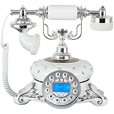 Lily's-uk Amore Telefono Ceramica New High - End Ufficio continentale telefono antico cordless di casa Creative Wireless Retro