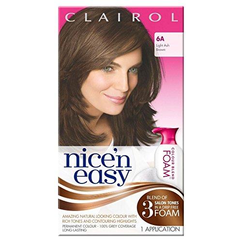 3-x-clairol-nicen-easy-permanent-colour-blend-foam-6a-light-ash-brown