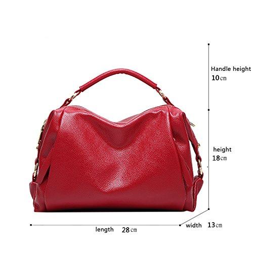 Tisdaini 2017 il nuovo raccoglitore molle della borsa dell'unità di elaborazione del sacchetto del messaggero della spalla del sacchetto del cuscino di modo della borsa delle signore rosso