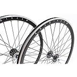 Juego de ruedas Fixie KHE 700C Rodamientos industriales de 40mm de color negro con rueda libre
