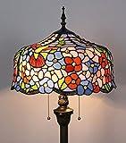 HDO 16-Zoll-blühende Blumen-Buntglas-kreatives Wohnzimmer-Schlafzimmer-Nachttisch-klassische luxuriöse atmosphärische Stehlampe