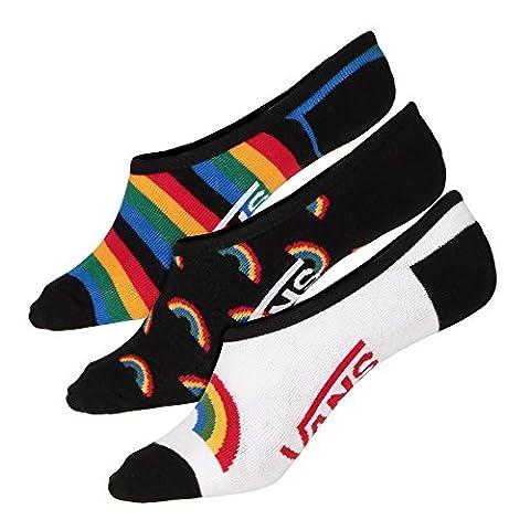 Vans Socken – Triple Rainbow Ca weiß/schwarz/mehrfarbig Größe: 37 bis 41 EU I 7-10 USA I 4.5-7.5 UK