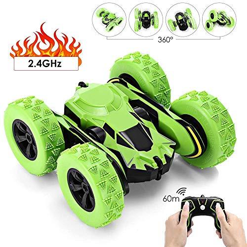GBlife Ferngesteuertes RC Auto Spielzeug Auto 2,4 GHz 360° Drehung RC Racing Buggy Spiegeln Doppelseitiges Fahren High Speed Stunt Autos Spielzeug Geschenke für Kinder ab 8 Jahre Alt (Grün)