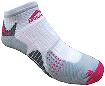 Womens More Mile cushioned SAN DIEGO running sock White/Pink