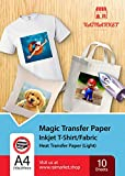 Iron on Transfer Paper for Light Fabric (Magic Paper) by Raimarket | 10