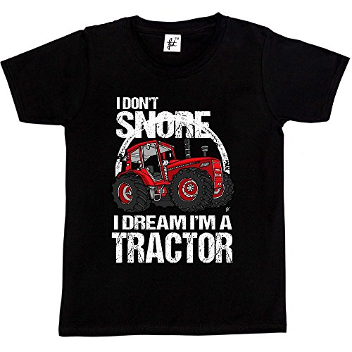 Fancy A Snuggle I Don't Snore I Dream I'm A Tractor Big Red Farm Kids Boys T-Shirt