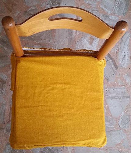No 6galettes carrés universels sfoderabili avec zip uni jaune