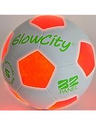 Glowcity lumière jusqu'à ballon de foot–Utilise 2Hi-bright lumières LED
