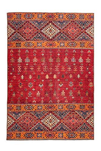 moebeldeal Teppich Ethno Muster, Läufer, Wohnzimmerteppich, Teppichläufer Flur, 100{4a02951cd4d9d093ed5875e219a7ad06639c930d0f8db5ccdc3da8591ce08cc3} Polyester, Multi/Rot, 80 x 150 cm, orientalisch, Orient Look, Ornamente, Kurzflor/Flachflor