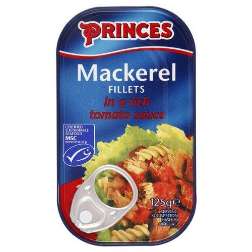 Princes filets de maquereaux dans une riche sauce tomate 10 x 125g