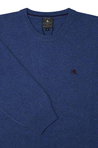 Kitaro Pullover Herren Lammwolle Made in Italy Blau -rewe-foerster.de 70d770425c