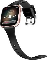 Moretek Armband für Fitbit Versa, Silikon Ersatzriemen Uhrenarmband Ersatzband Ersatzarmband Armbänder für Fitbit Versa Frauen Männer mit Schnellspann Verstellbare Metall Spange