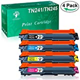 GREENSKY 4 paquets Remplacement de cartouche d'encre compatible Brother TN-241 TN-245...
