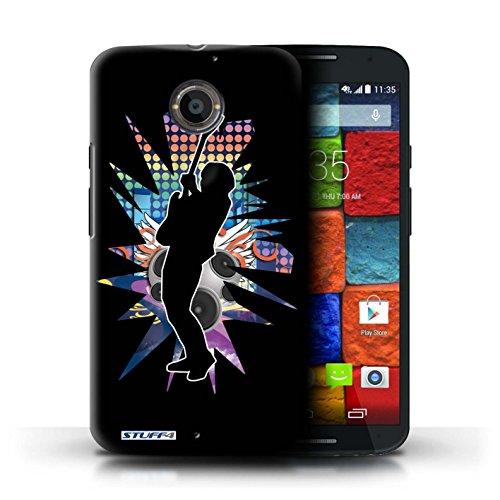Kobalt® Imprimé Etui / Coque pour Motorola Moto X (2014) / Atteindre Blanc conception / Série Rock Star Pose Hendrix Noir
