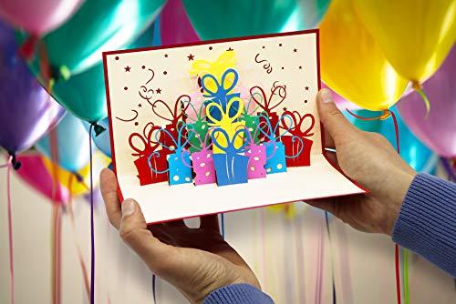 Überraschende Geburtstagskarte für Glückwunsch & Jubiläum – hochwertige 3D Pop-Up Karte zur Gratulation zum Geburtstag – tolle Glückwunschkarte für