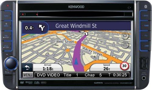 Kenwood DNX 520 VBT Moniceiver mit All-In-One Navigationssystem (17,7 cm / 7 Zoll Doppel-DIN Monitor, DVD Player, DivX-zertifiziert, USB) schwarz Kenwood Auto Gps