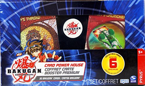 Bakugan - Battle Brawlers - Card Power House - includes 6 Special Collectible Cards - Pyrus