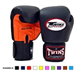 Twins Special Muay Thai Boxing Gloves BGVLA Air Flow - 14 Oz. orange/black