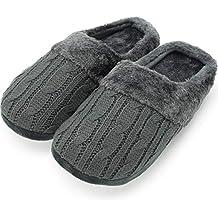 CityComfort Pantofole per Uomo e Donna in Memory Foam con Pelliccia  Sintetica Ciabatte Unisex Invernali b23539f4538