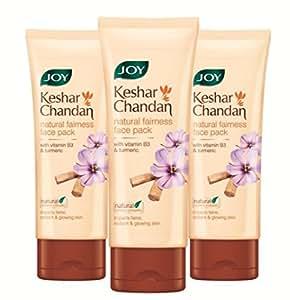 Joy Keshar Chandan Fairness Face Pack, 60ml (Pack of 3)