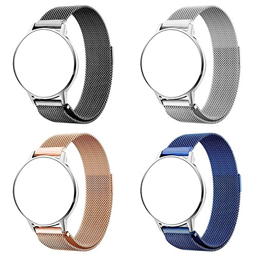 Turnwin Replacement Metal Milanese LOOP Bands for Ticwatch (1st Generation) Smartwatch