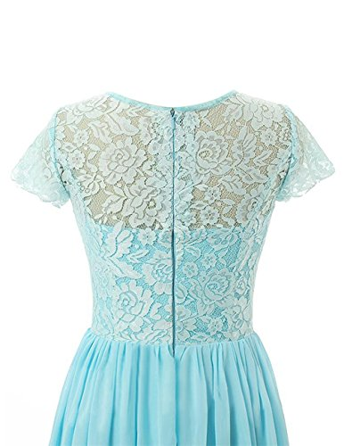 Beonddress Damen Lange Brautjungfer Kleid Chiffon Abendkleid Abendkleid mit Ärmeln Champagner