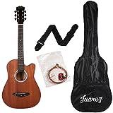 JUAREZ JRZ38C/mAh 6 Strings Acoustic Guitar 38 Inch Cutaway, Right Handed, Mahogany