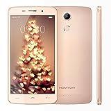 HOMTOM HT17 Pro 4G LTE Smartphone Ohne Vertrag MT6737 Quad Core 64-Bit 5.5 Zoll FHD Dual SIM 2GB RAM+16GB ROM 13MP+5MP Kameras 7.9mm Dicke Android Marshmallow 6.0 mit Fingerabdrucksensor(Golden)