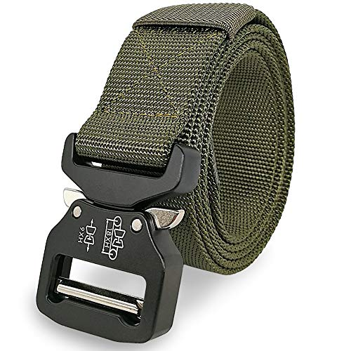 Green Herren Gürtel Schnalle (Facefuture Herren Taktischer Gürtel Verstellbare Rigger's Belt Nylon Gurtband Taillengürtel Outdoor Military Heavy Duty Quick Release Schnalle, YD0105Army Green, Fit Waist from 30 to 46 inches)