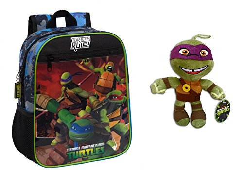 TMNT-Pack-Mochila-infantil-Tortugas-Ninja-4612151-644-Litros-Color-Azul-Peluche-Donatello-30cm-Super-Soft