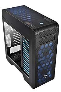 Thermaltake CA-1B6-00F1WN-00 Core V71 Full-Tower PC-Gehäuse (ATX, micro-ATX, 2 x 5,25 externe, 8 x 3,5 interne, 2x USB 2.0, 2x USB 3.0) schwarz