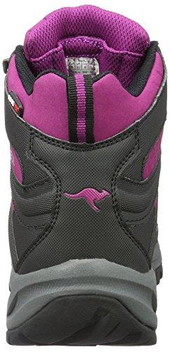 KangaROOS Nangat, Chaussures de Randonnée Hautes Femme Schwarz (Black/Lilac)