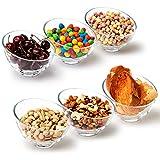 EZOWare Cuencos para Cereales de Vidrio, Set de 6 Cuenco Inclinado Apilables de Cristal - Ideal para Servir Ensalada, Sopa, Cereales, Bocadillos, Helado, Arroz, Postre - 400...