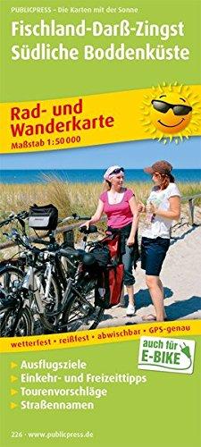 Fischland - Darss - Zingst. 1:50000. Rad- und Wanderkarte mit Ausflugszielen, Einkehr- & Freizeittipps, reissfest, wetterfest, beschriftbar und wieder abwischbar