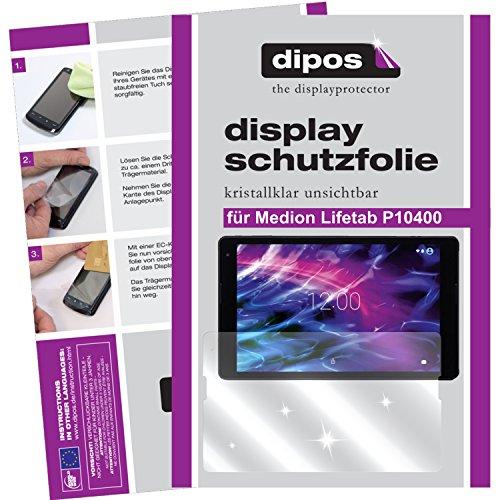 dipos I 2X Schutzfolie klar passend für Medion Lifetab P10400 Folie Bildschirmschutzfolie
