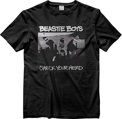Herren Check Shirt (Amplified Herren Oberteile/T-Shirt Beastie Boys Check Your Head Schwarz L)