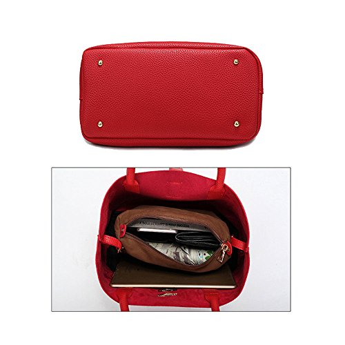 FavoMode, Borsa a mano donna rosa Pink Handbag taglia unica Pink Handbag